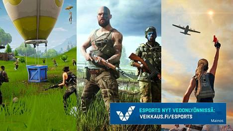 Tässäkö ovat battle royale -genren kuninkaat loppuvuodesta? V-O: Fortnite, Battlefield V ja PlayerUnknown's Battlegrounds.