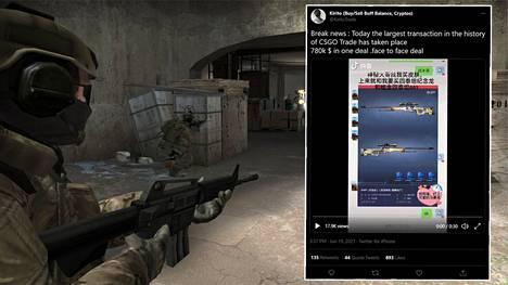 Kiinalainen Counter-Strike-pelaaja maksoi kahdesta videopelin aseesta hurjat 780000 dollaria.