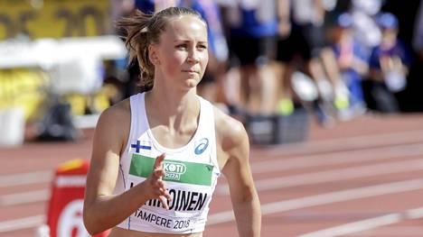 Aituri Viivi Lehikoinen eteni finaaliin 22-vuotiaiden EM-kisoissa. Kuva viime kesältä.