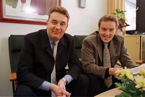 Timo Koivusalo ja Joel Hallikainen vuonna 2000.