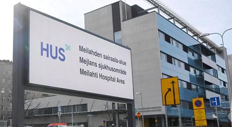 Meilahden sairaalan kyltti Helsingissä.