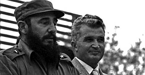 Nicolae Ceausescu vieraili Kuubassa Fidel Castron luona elokuussa 1973.