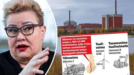 Sirpa Pietikäisen mukaan (kok) EPP-ryhmän sisällä ainakin reilu kolmannes suhtautuu kriittisesti ydinvoimaan. Olkiluodon uuden ydinvoimalan on tällä tietoa määrä käynnistyä ensi vuonna.