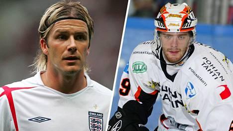 Ville Leino (oik.) otti mallia tyyli-ikoni David Beckhamin valkoisista nappulakengistä ja vaihtoi vitivalkoisiin luistimiin.