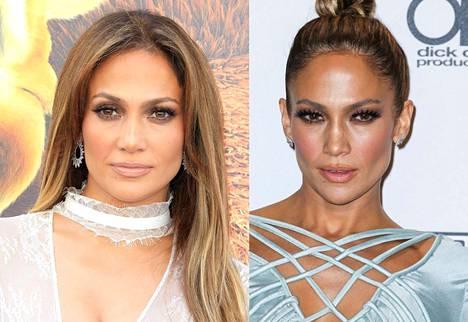 Jennifer Lopez on mieltynyt viime vuosina päätä nuoleviin nutturoihin ja ponnarikampauksiin.