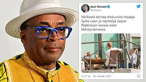 Spike Lee on ehtinyt vierailullaan tavata myös Suomen tasavallan presidentti Sauli Niinistön.