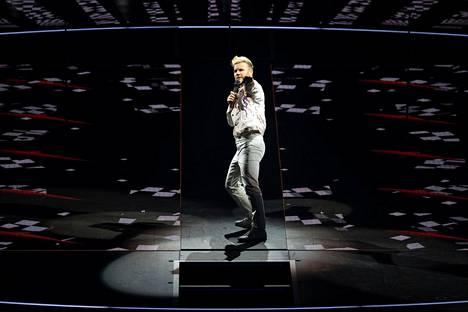 Gary Barlow esiintyi Britannian Manchesterissä toukokuussa 2017.