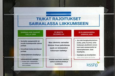 Keski-Suomen keskussairaala on asettanut tiukkoja liikkumisrajoituksia epidemian vuoksi.