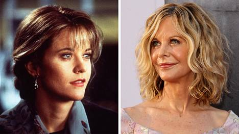 Meg Ryan tähditti Oscar-ehdokkaanakin ollutta Uneton Seattlessa -elokuvaa 1993 (vasen kuva). Viime vuosina tähteä ei ole nähty usein julkisuudessa. Kuva kesältä 2017.