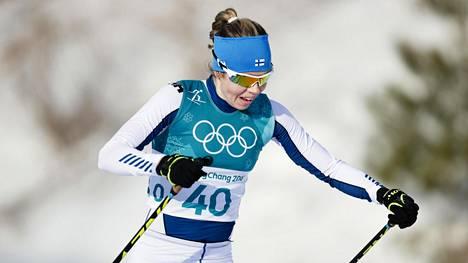 Laura Mononen Pyeongchangin olympialaisissa.