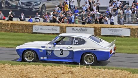 Ford Capri RS Cologne vuosimallia 1973 kuvattuna Britanniassa Goodwoodin Festival of Speed -tapahtumassa.