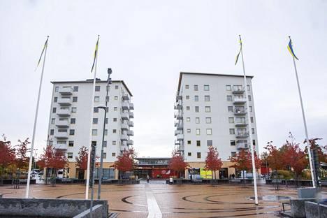 Poliisin mukaan Märstan asukkaat pitävät Valstan aluetta kaikkein turvattomimpana. Kuvassa Valstan keskus.