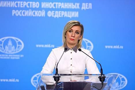 """Venäjän ulkoministeriön tiedottaja Maria Zaharova vihjailee Julia Navalnajan palanneen Moskovaan suoritettuaan Saksassa """"erityistehtävän""""."""