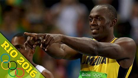 Usain Bolt hallitsi välieriä.