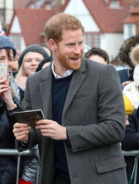 Prinssi Harry kuvattuna tiistaina Edinburghissa edustustehtävissä.