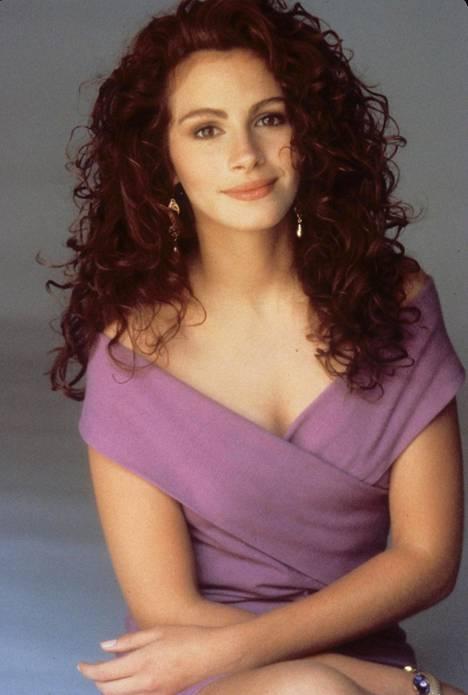 Julia Roberts 23-vuotiaana vuonna 1990.