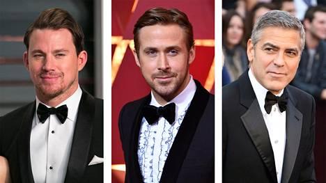 Channing, Ryan ja George Oscar-gaalatyyleissään – melkein yhtä hyviä, kuin meidän lookimme Linnassa.