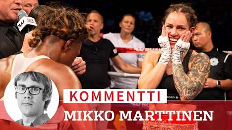 Toimittaja Mikko Marttisen mieleenpainuvin muisto Eva Wahlströmistä (oik.) on nyrkkeilijän valloittava nauru.