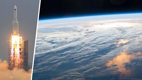 Wenchangin avaruuskeskuksesta laukaistun Pitkä marssi 5B -raketin jäänteet lähestyvät maata hallitsemattomasti.