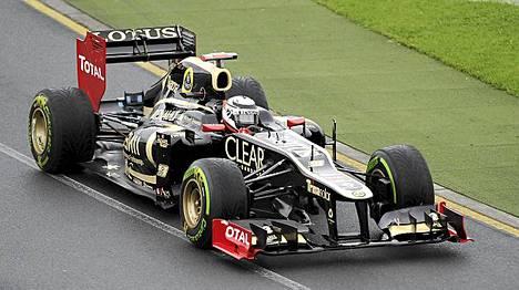 Kimi Räikkönen hakee menestystä Lotuksen ratissa.