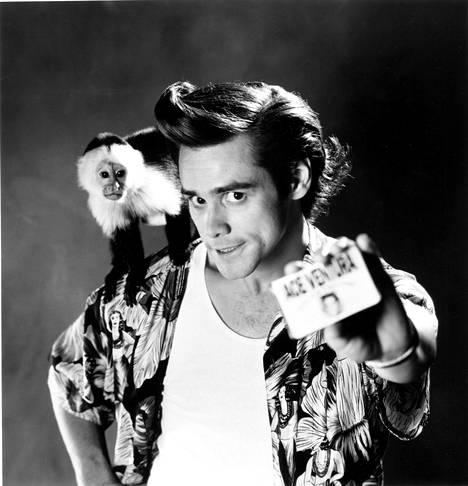 Kuva vuodelta 1994. Jim Carrey takoi jo 90-luvulla suunnatonta tiliä rooleillaan.
