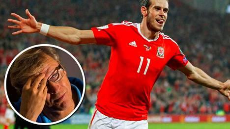 Gareth Balen Wales ponnistaa kohti MM-kisoja ykköskorista, Markku Kanervan Suomi vitoskorista.