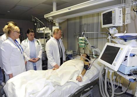 Venäjän presidentti Vladimir Putin vieraili Maria Komissarovan luona heti onnettomuuden jälkeen.