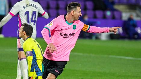 Lionel Messi iski 644. maalin FC Barcelonan paidassa 22. joulukuuta Real Valladolidin verkkoon.