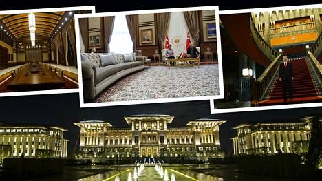 Erdoganin Valkoinen palatsi on 30 kertaa suurempi kuin Yhdysvaltojen presidentin virka-asunto Valkoinen talo.