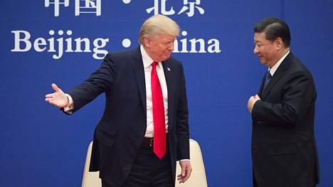 Donald Trump ja Kiinan Xi Jinping Trumpin Kiinan-vierailulla vuonna 2017.