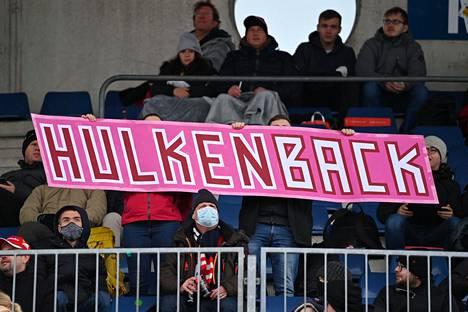 Nico Hülkenbergin kannattajat olivat näkyvästi esillä Nürburgringillä.