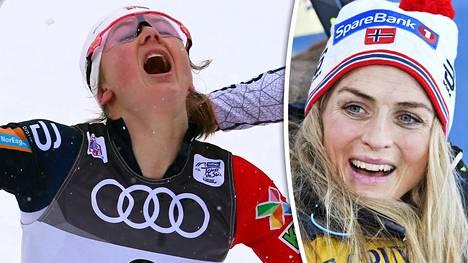 Ingvild Flugstad Östberg ei pysty hiihtämään kauden avauskisoissa. Se harmittaa Therese Johaugia.