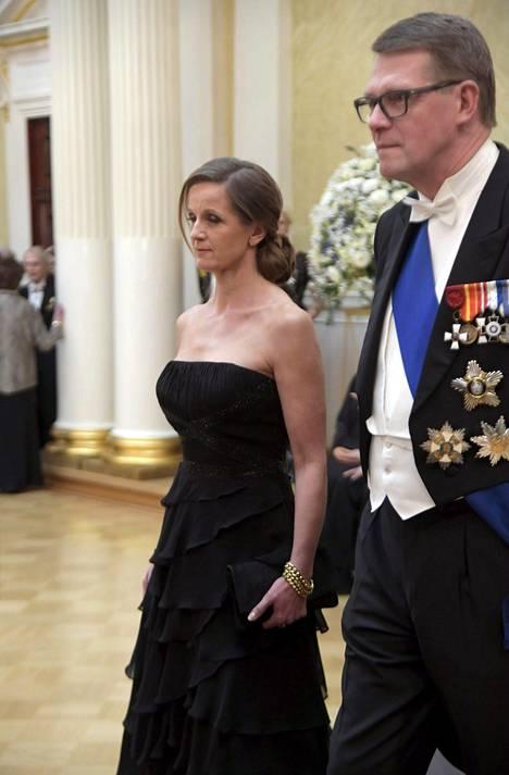 Matti Vanhanen ja Heidi Huhtamaa.