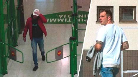 Poliisi epäilee 36-vuotiaan tamperelaismiehen (kuva vas.) olleen Katiska-huumeliigan johtajaksi epäillyn Niko Ranta-ahon (oik.) apulainen.