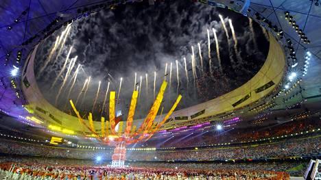 Kuvituskuva vuoden 2008 Pekingin kesäolympialaisten päättäjäisistä.