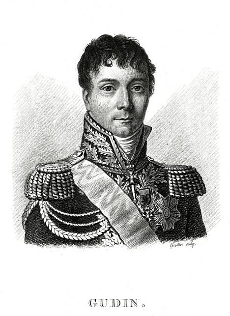 Piirros Charles Etienne Gudinista.