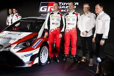 Esapekka Lappi kilpaili Toyotalla kausina 2017 ja 2018. Tallitoverina oli muiden muassa Jari-Matti Latvala.