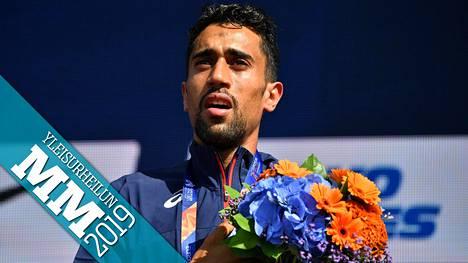 Morhad Amdouni voitti 10 000 metrin EM-kultaa Berliinissä elokuussa 2018.
