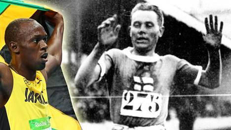 Paavo Nurmi peittoaa saavutuksillaan Usain Boltin.