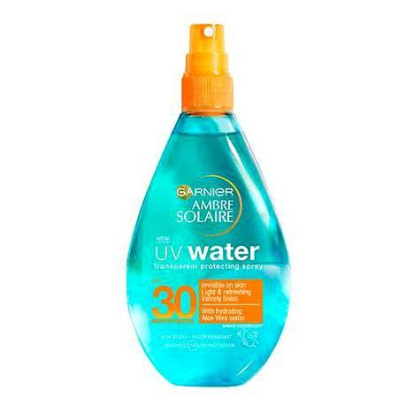 Garnier Ambre Solaire UV Water, SPF 30, 14,70 € / 150 ml.