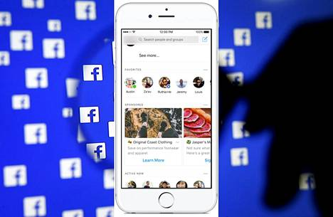 Mainokset vievät suuren osan Messengerin aloitusnäkymästä.