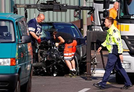 Mies otettiin kiinni viimeisen, moottoripyöräilijään kohdistuneen törmäyksen jälkeen.