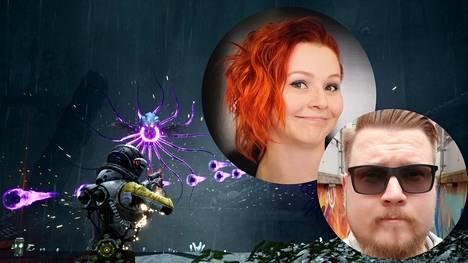 Returnal yhdistelee kahta pelityyppiä, räiskintää ja muuttuvan maailman rogue-pelejä, kertovat Eevi Korhonen ja Mikael Haveri.