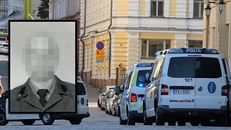 Murhasta epäilty 34-vuotias mies asui Helsingin Kasarmikadulla, jossa poliisi suoritti ison operaation viime viikon torstaina.