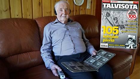 Hannes Laamanen, 104, haavoittui talvisodassa Kollaanjoella.