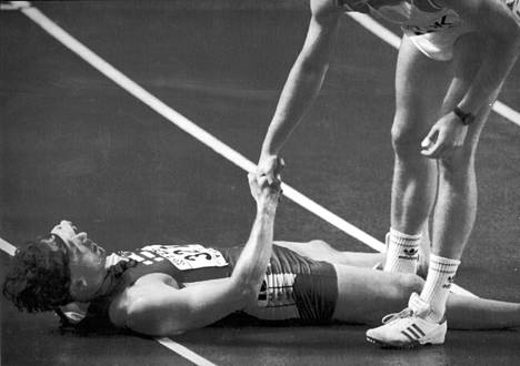 Petri Keskitalo yleisurheilun MM-kisoissa Tokiossa vuonna 1991.