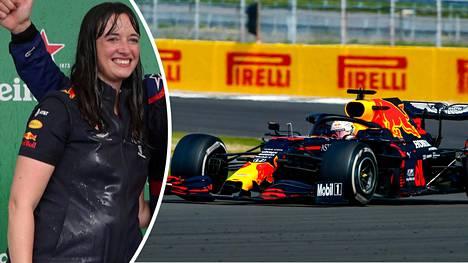 Max Verstappen voitti F1-kisan sunnuntaina. Hannah Schmitz oli yksi voiton tärkeistä taustahahmoista.