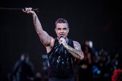 Robbie Williams kertoi vihdoin faktat legendaarisen vitsinsä takaa.