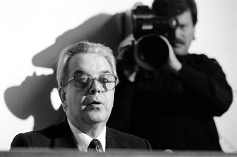 Suomen Pankin pääjohtaja Rolf Kullberg vuonna 1985.