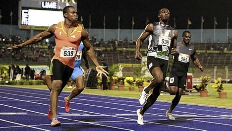 Oho! Usain Bolt jäi kakkoseksi.